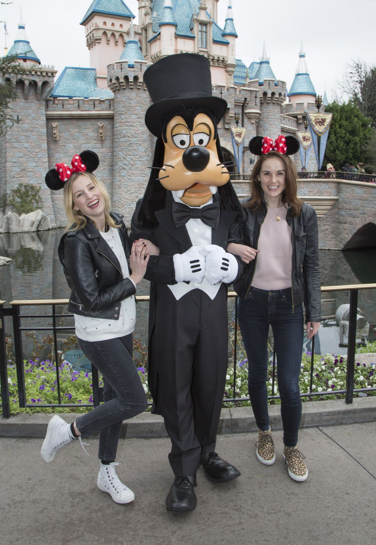 LAURA CARMICHAEL and MICHELLE DOCKERY at Disneyland Amusement Park in Anaheim 02/10/2017