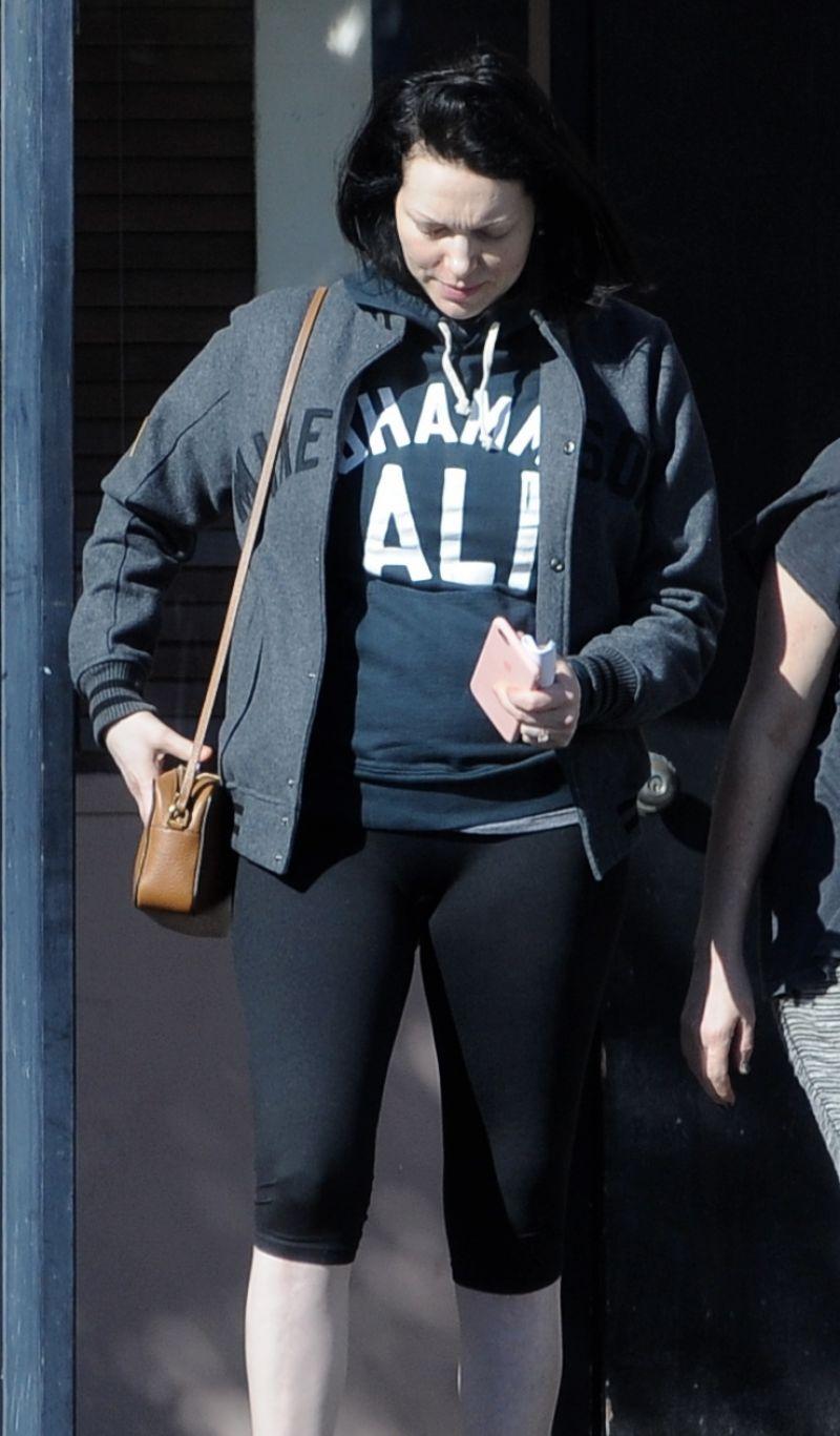 LAURA PREPON Leaves Bank of America in Los Angeles 02/15 ...