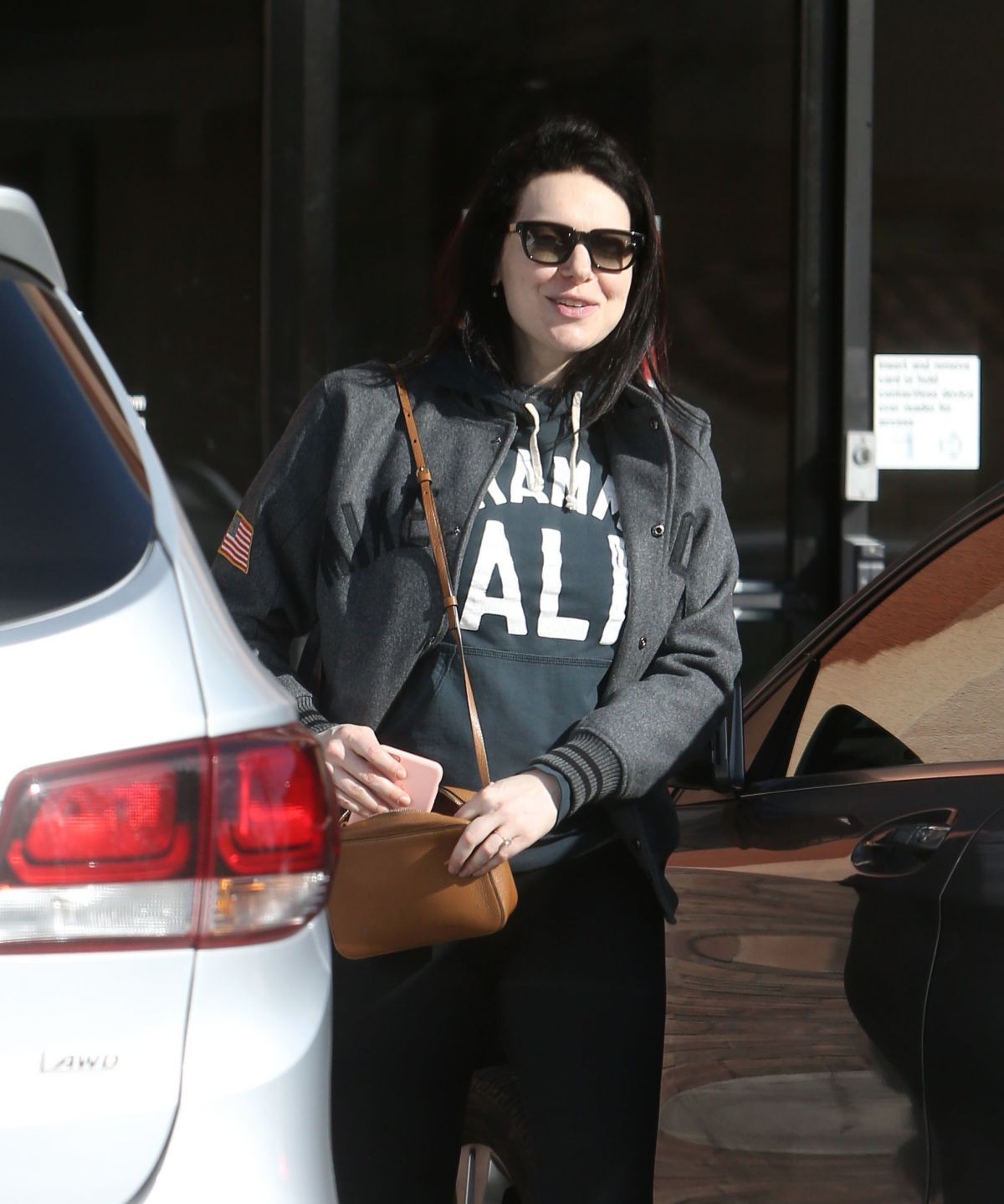 LAURA PREPON Leaves Bank of America in Los Angeles 02/15 ...