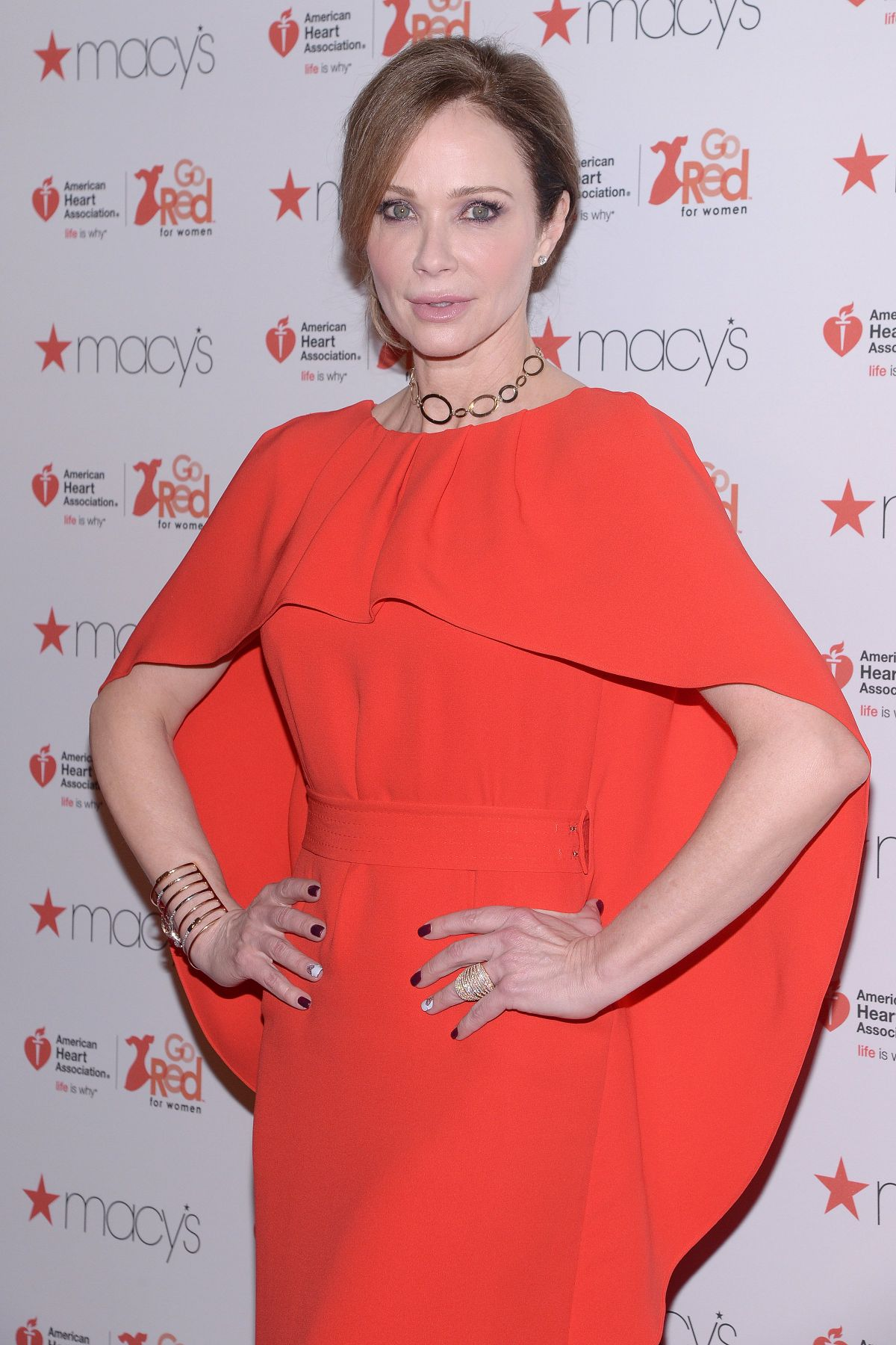 LAUREN HOLLY at American Heart Association's Go Red for Women Red Dress Collection 2017 in New York 02/09/2017