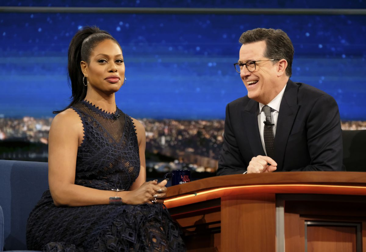 LAVERNE COX at Late Show with Stephen Colbert 02/13/2017