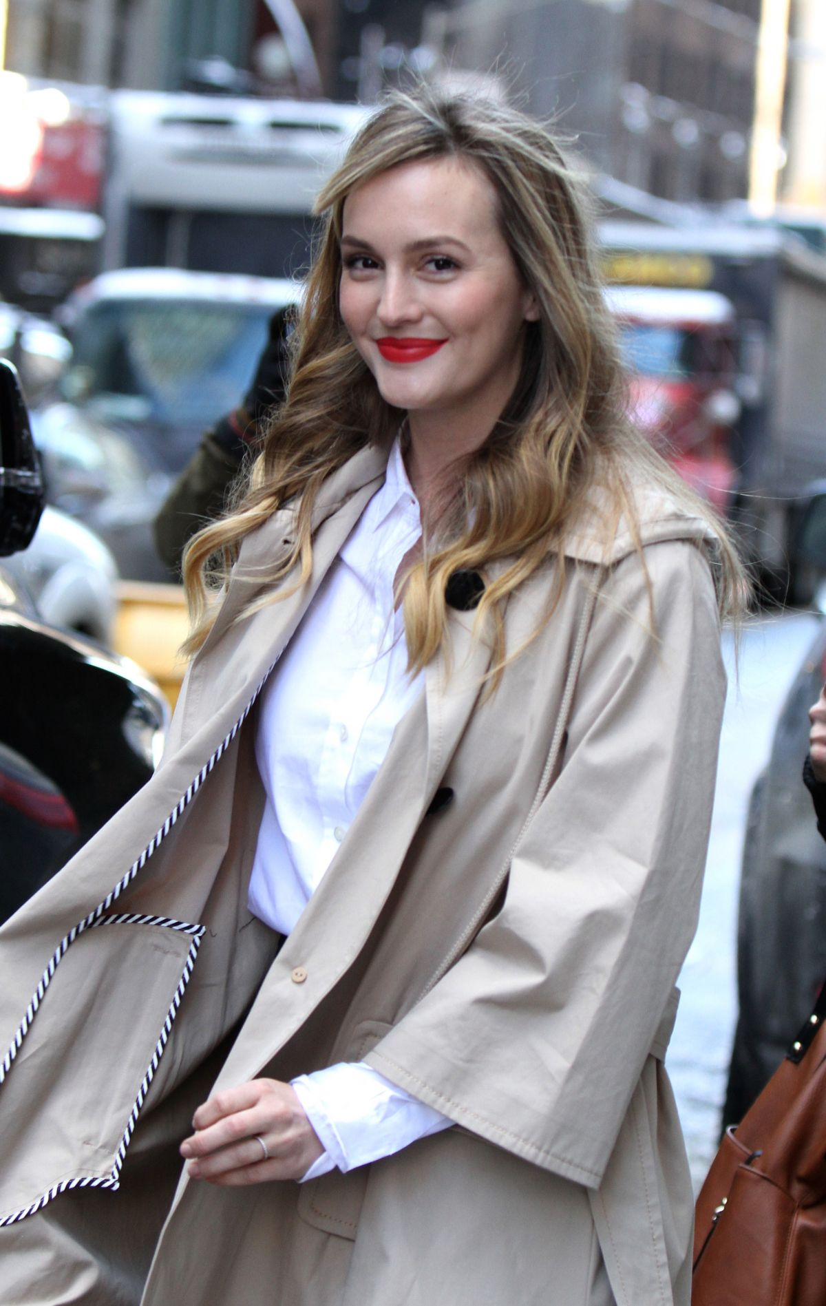 LEIGHTON MEESTER Arrives at Kate Spade Fashion Show in New ...