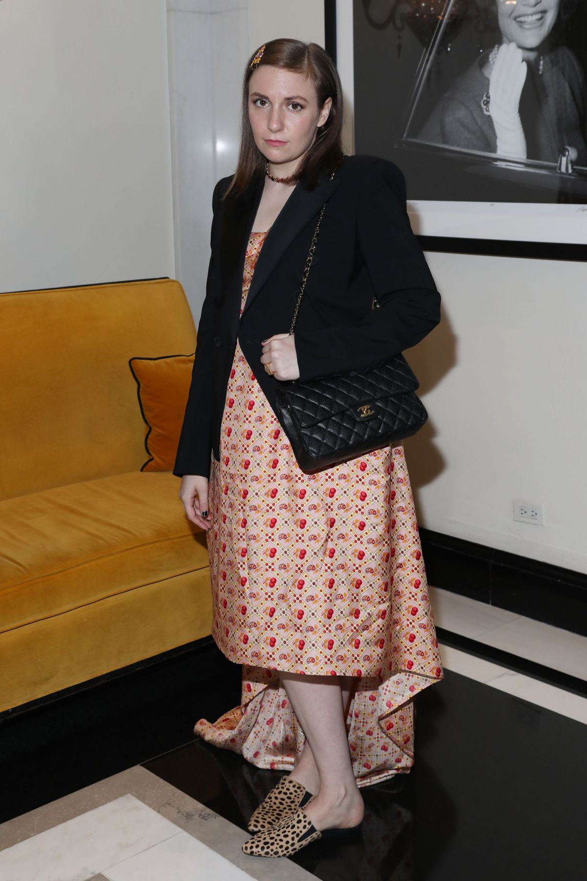 LENA DUNHAM at Instyle March Issue Party in New York 02/07/2017