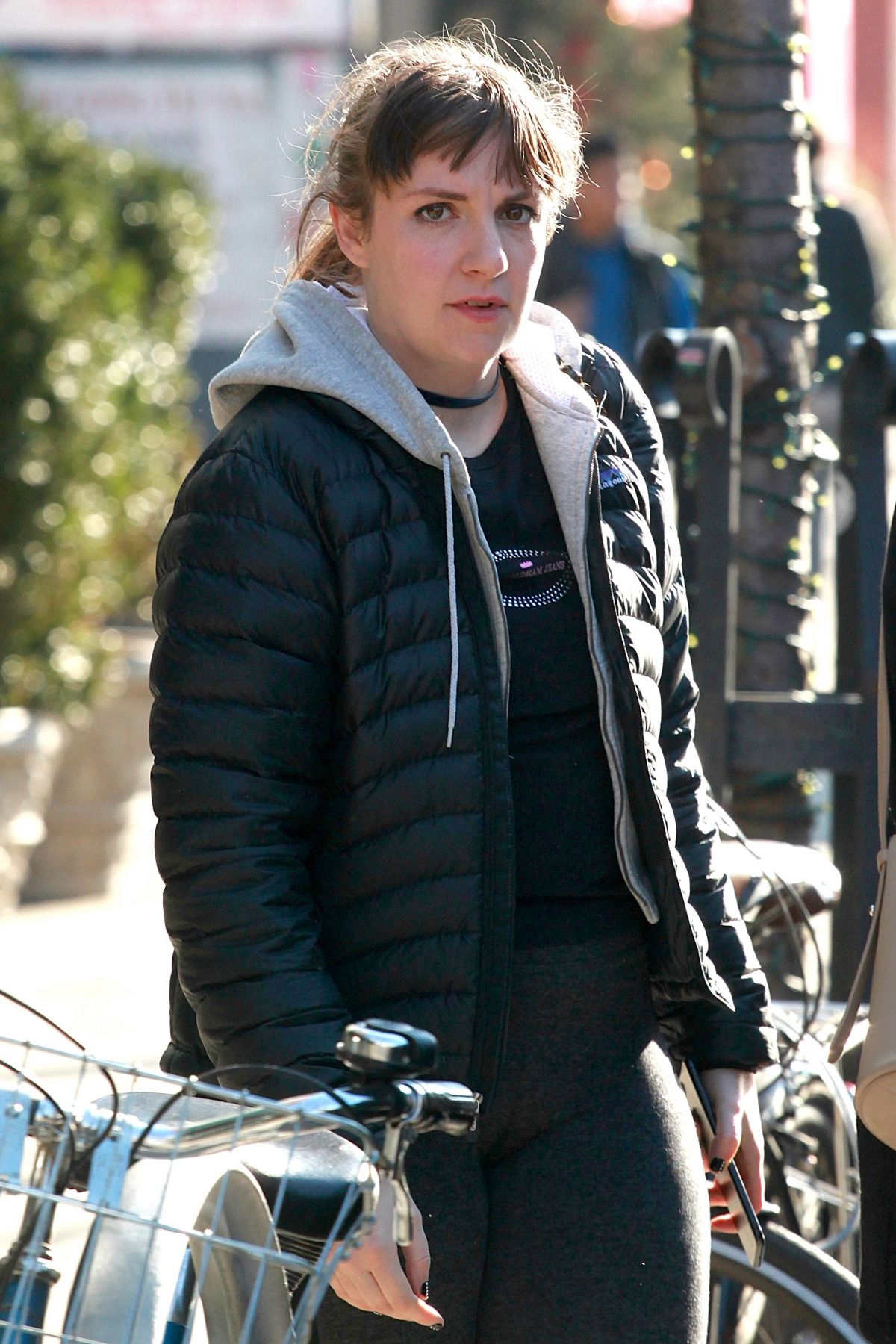 LENA DUNHAM Out and About in New York 02/06/2017