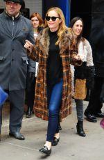 LESLIE MANN Arrives at Good Morning America in New York 01/31/2017