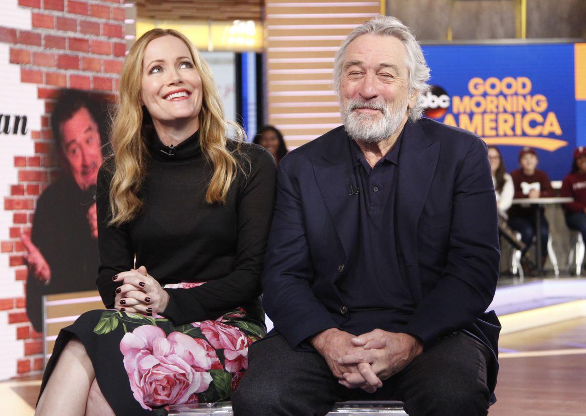 LESLIE MANN on the Set of Good Morning America 01/31/2017