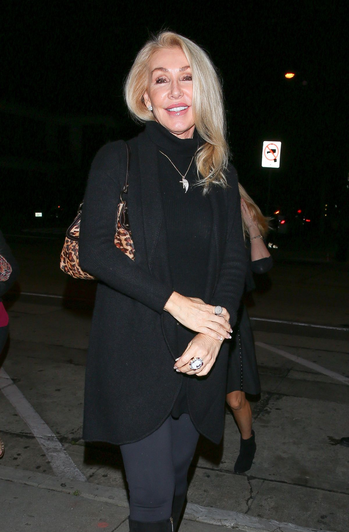 LINDA THOMPSON Out for Dinner in West Hollywood 02/21/2017
