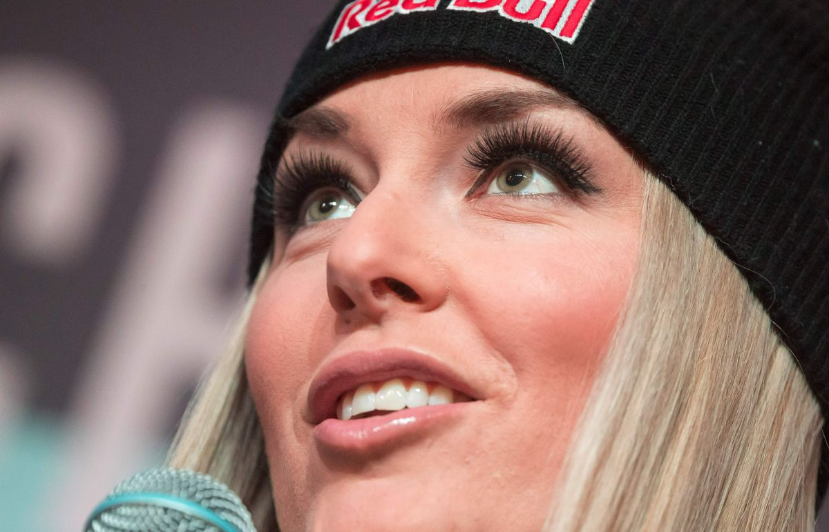 LINDSEY VONN at Eurosport Press Conference for TV Series Chasing
