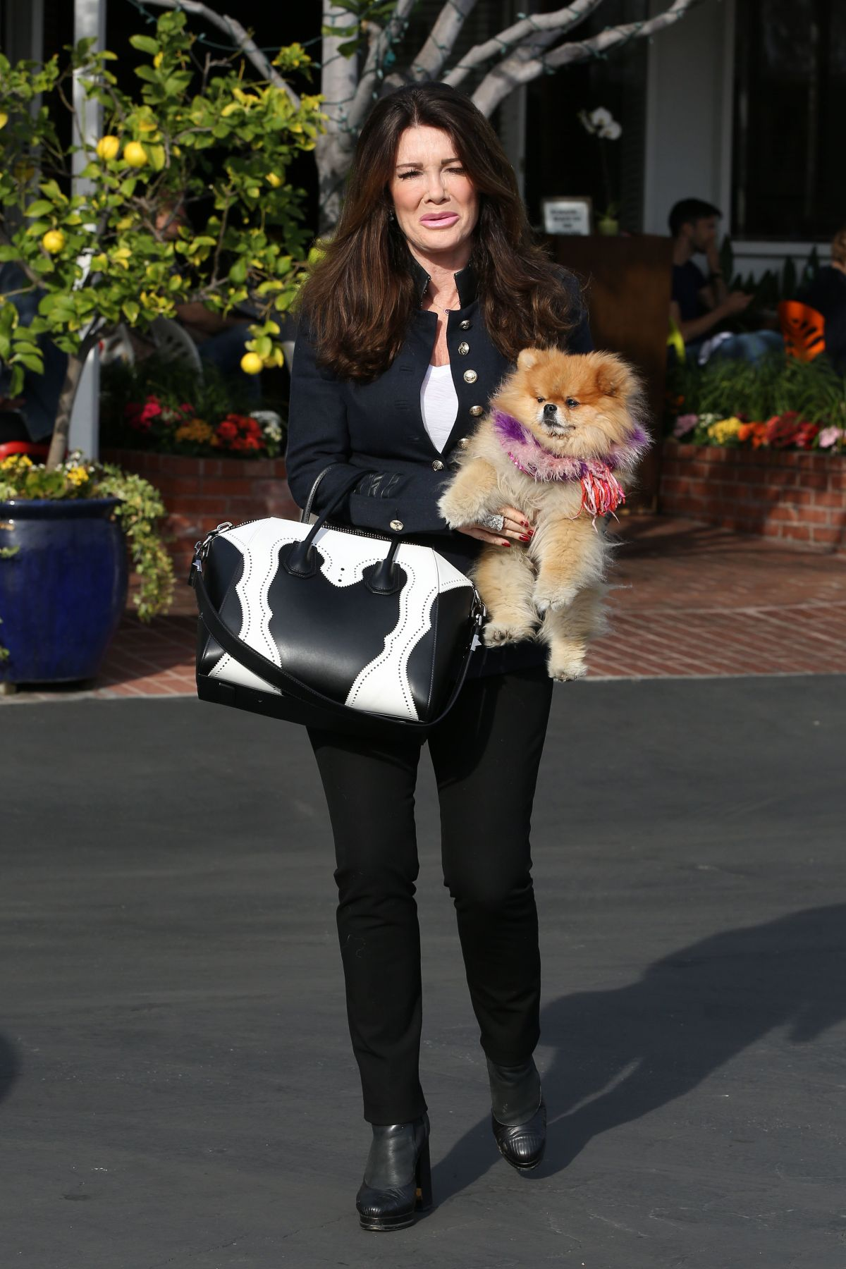 LISA VANDERPUMP Out and About in Beverly Hills 02/01/2017