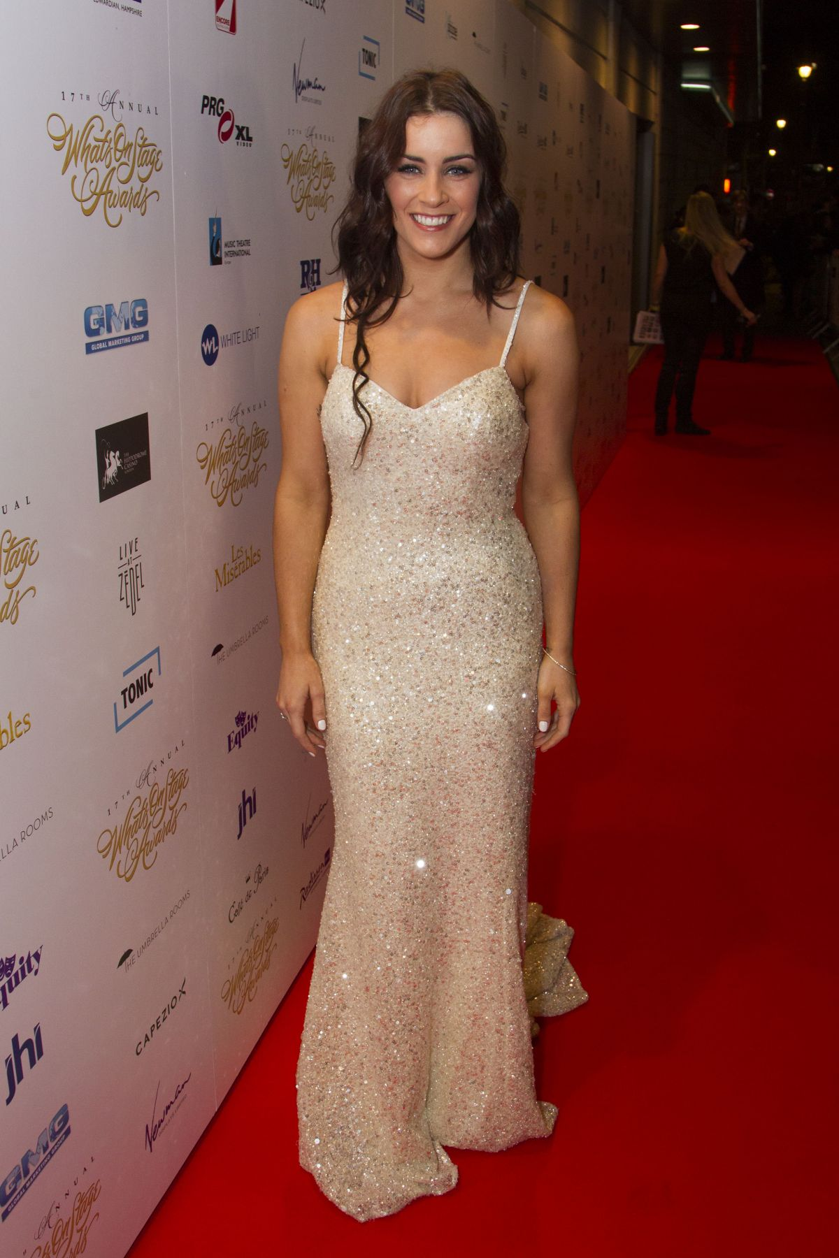 LUCIE JONES at 2017 WhatsOnStage Awards Concert in London 02/19/2017