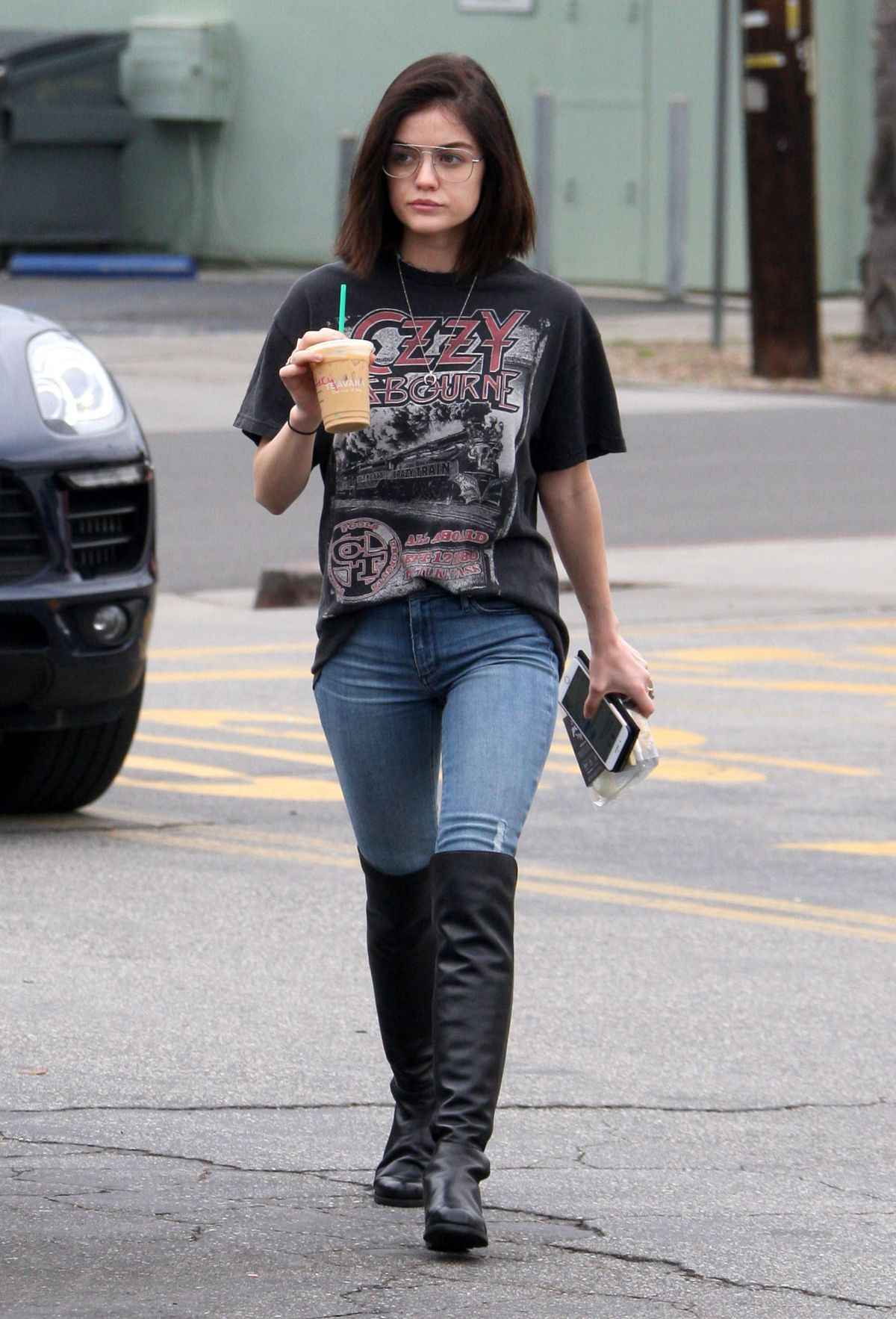 LUCY HALE in Tight Jeans Out in Studio City 02/10/2017 ...