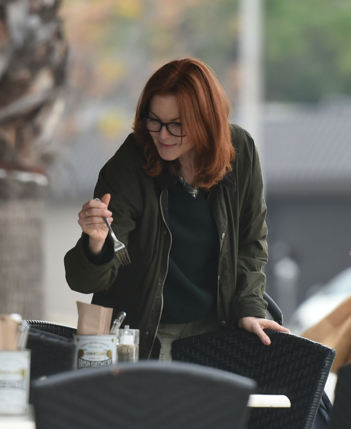 MARCIA CROSS Out for Lunch in Los Angeles 02/06/2017