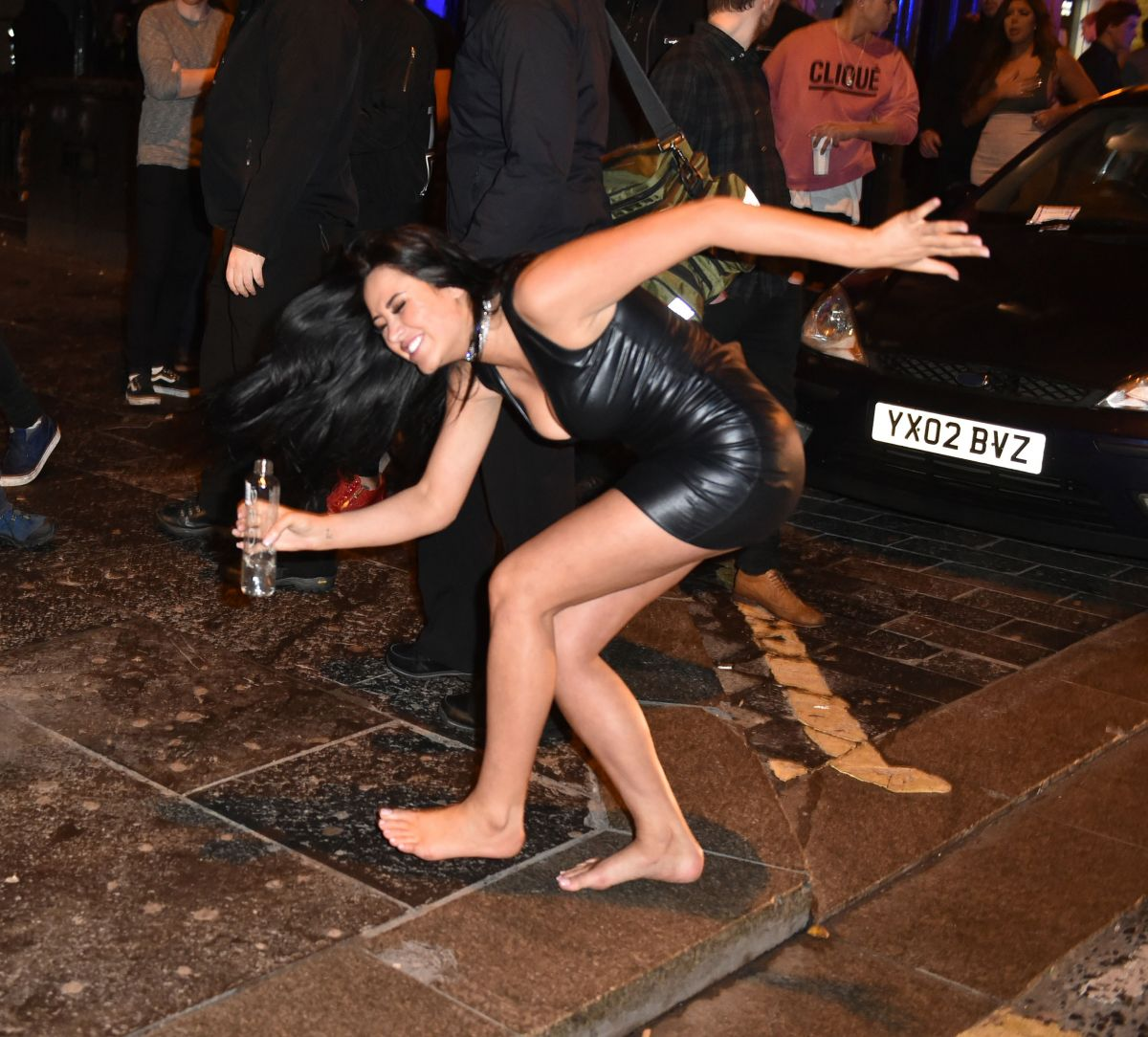 MARNIE SIMPSON on the Set of Geordie Shore at Ttuptup Palace in Newcastle 02/16/2017