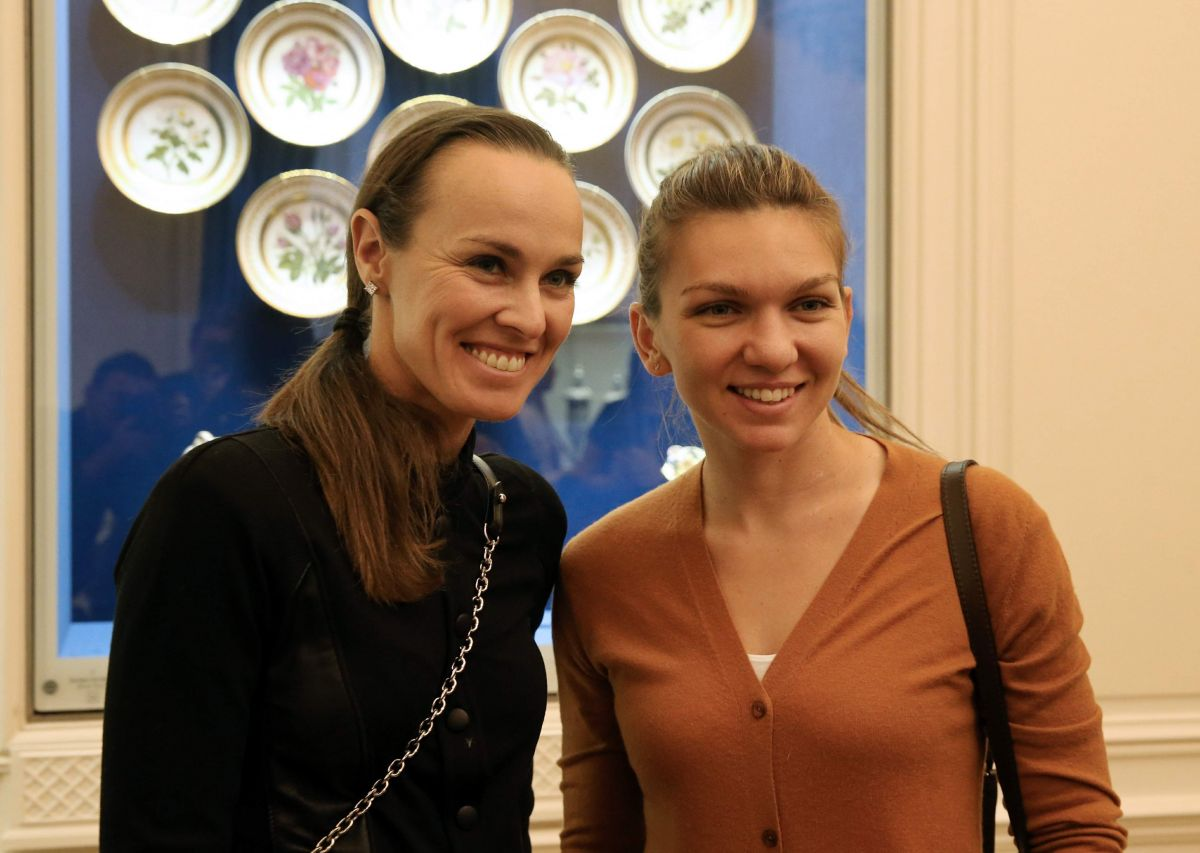 MARTINA HINGIS and SIMONA HALEP at Faberge Museum in St Petersburg 01/31/2017