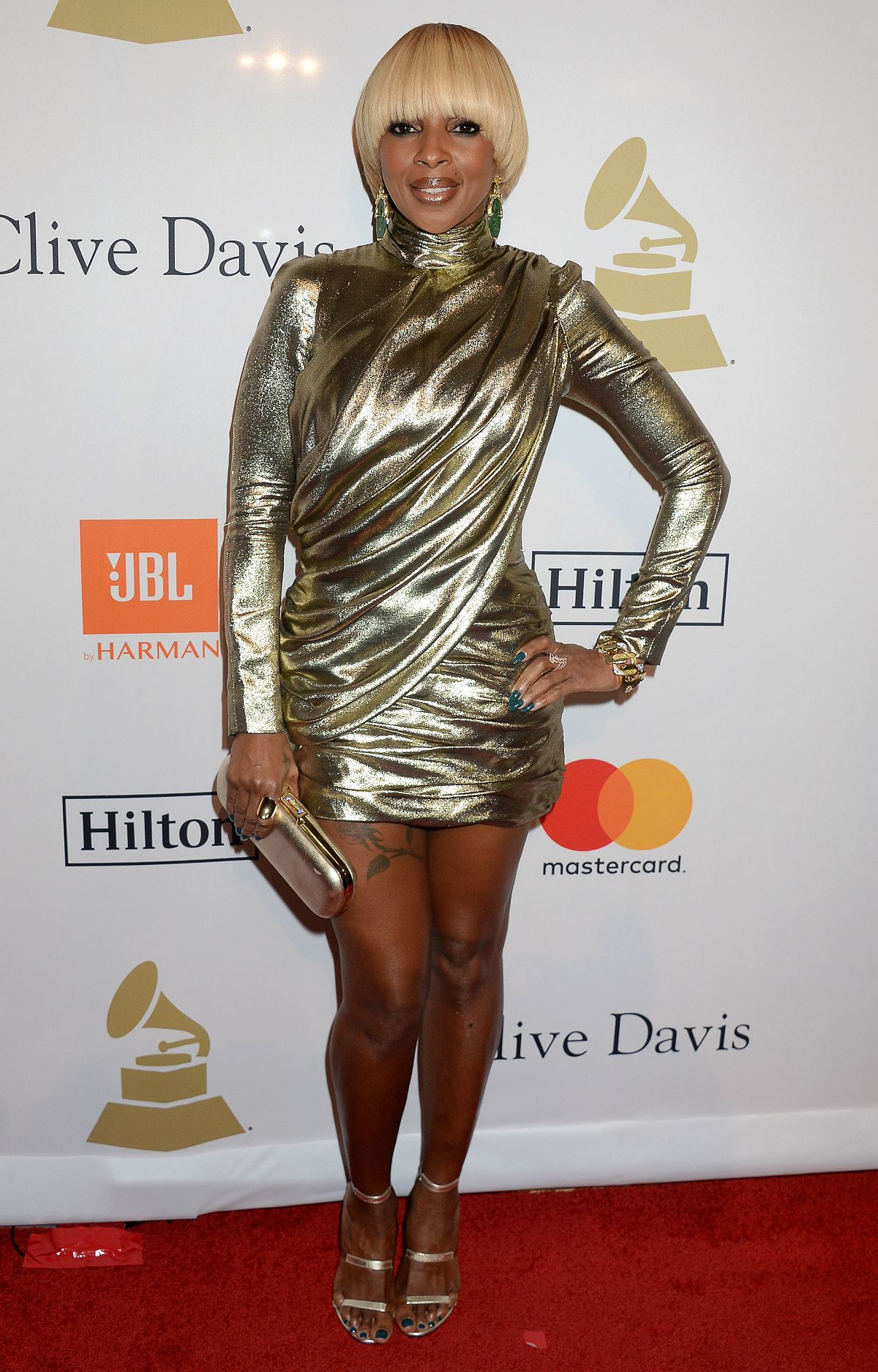 MARY J. BLIGE at Clive Davis Pre-grammy Party in Los Angeles 02/11/2017