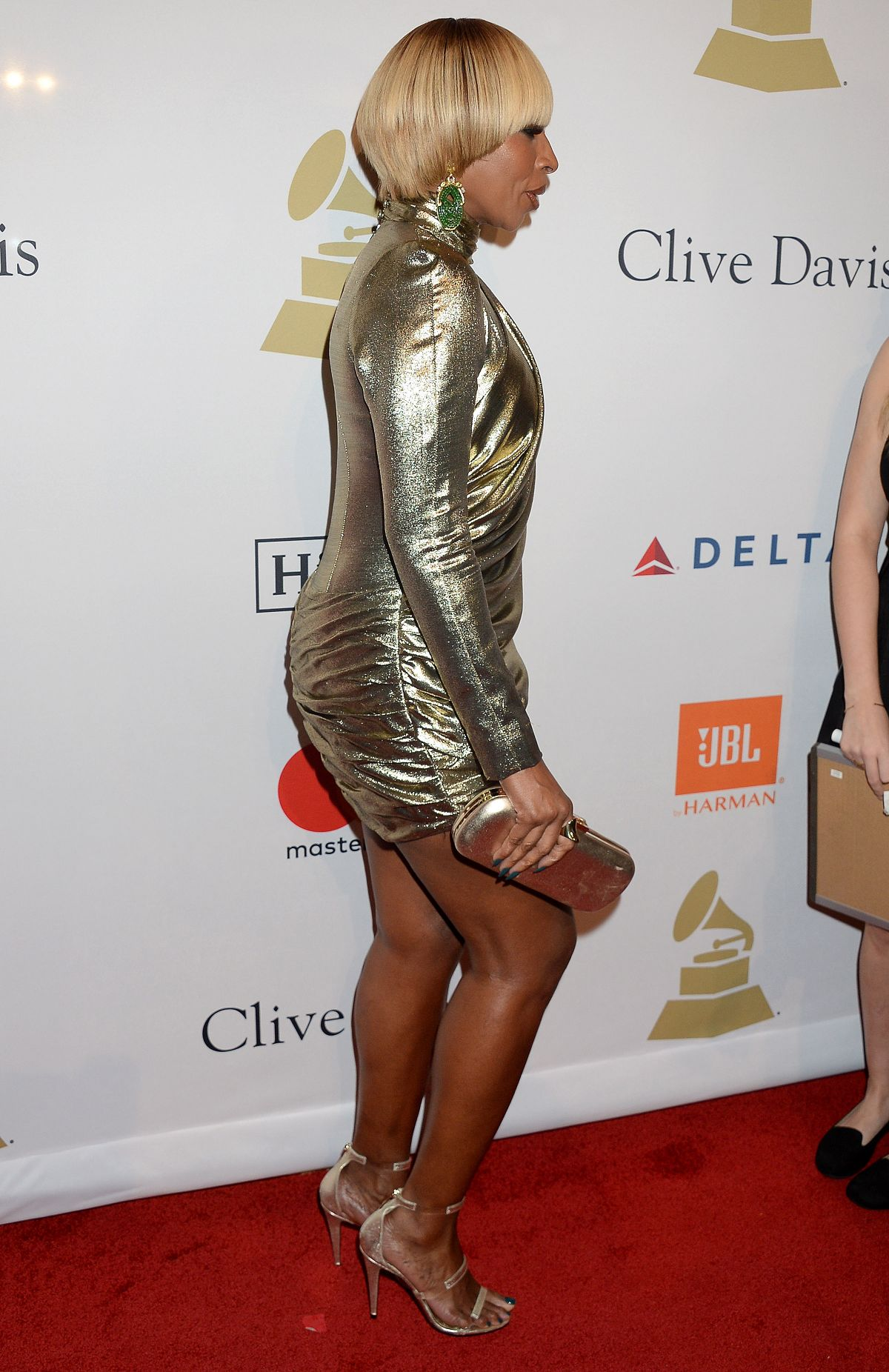 Mary J Blige At Clive Davis Pre Grammy Party In Los