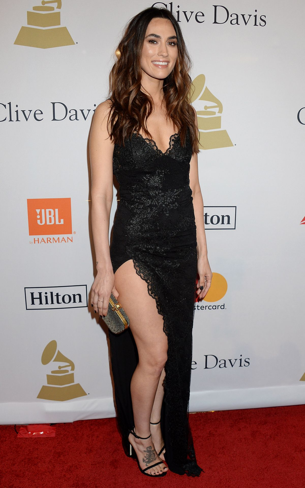 MEAGAN CAMPER at Clive Davis Pre-grammy Party in Los Angeles 02/11/2017
