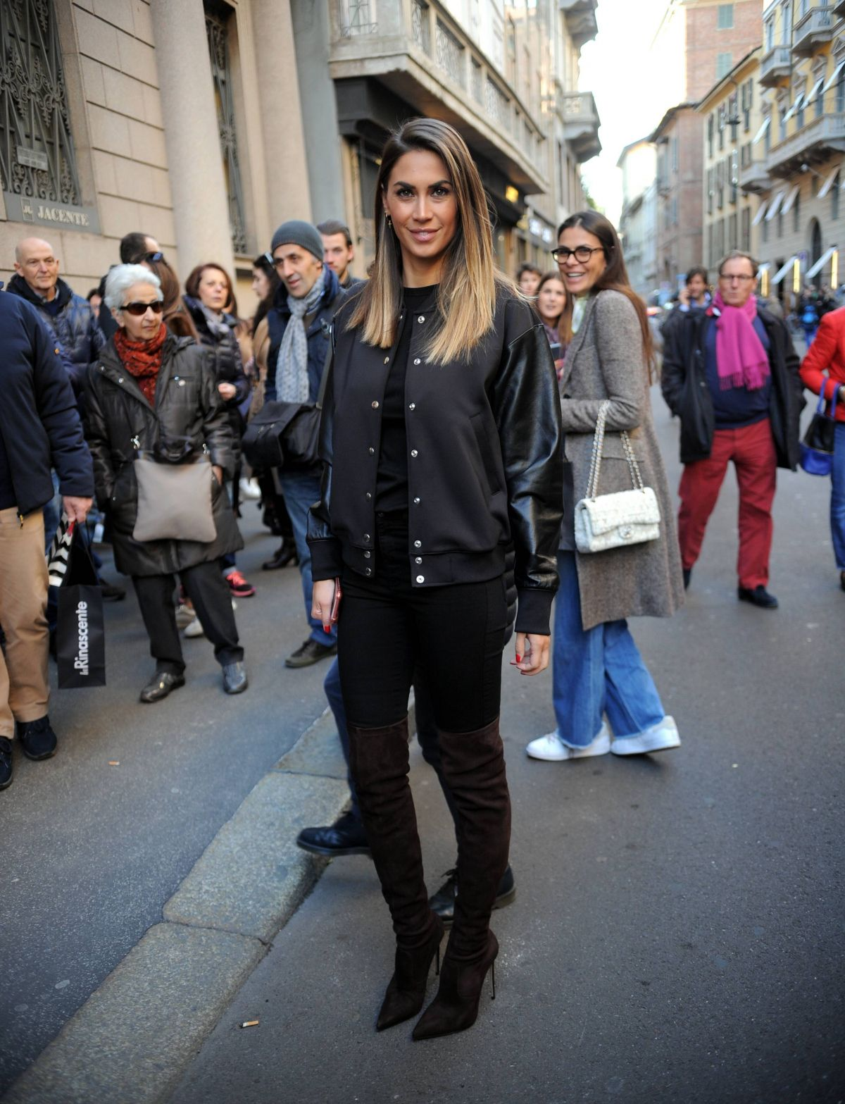 MELISSA SATTA Arrives at a Fashion Show in Milan 02/25/2017