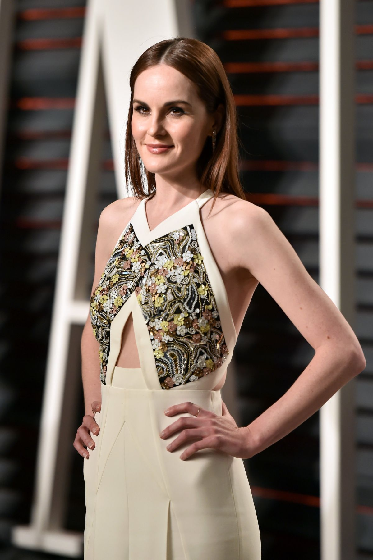 MICHELLE DOCKERY at 2017 Vanity Fair Oscar Party in ...