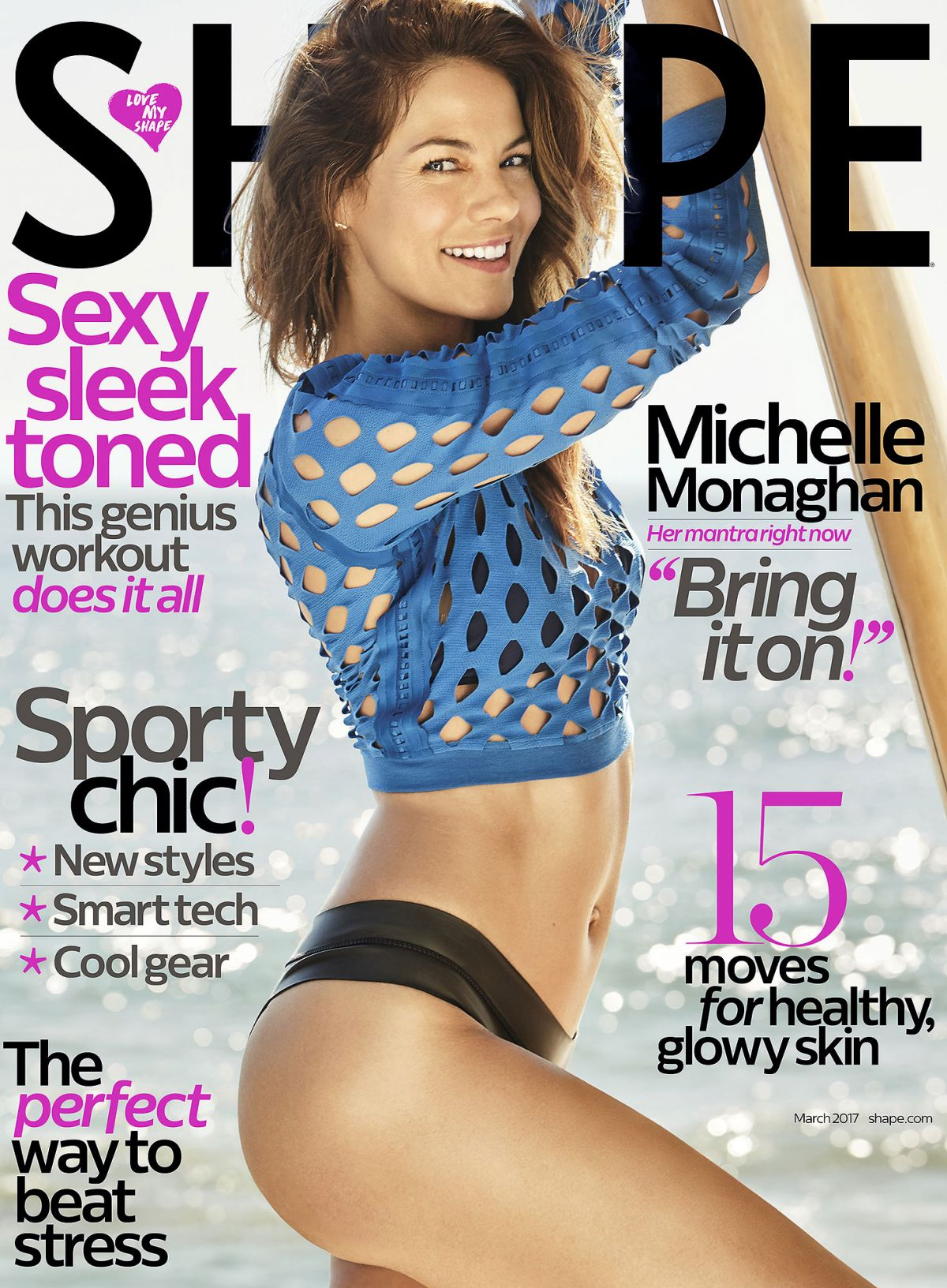 MICHELLE MONAGHAN in Shape Magazine, March 2017