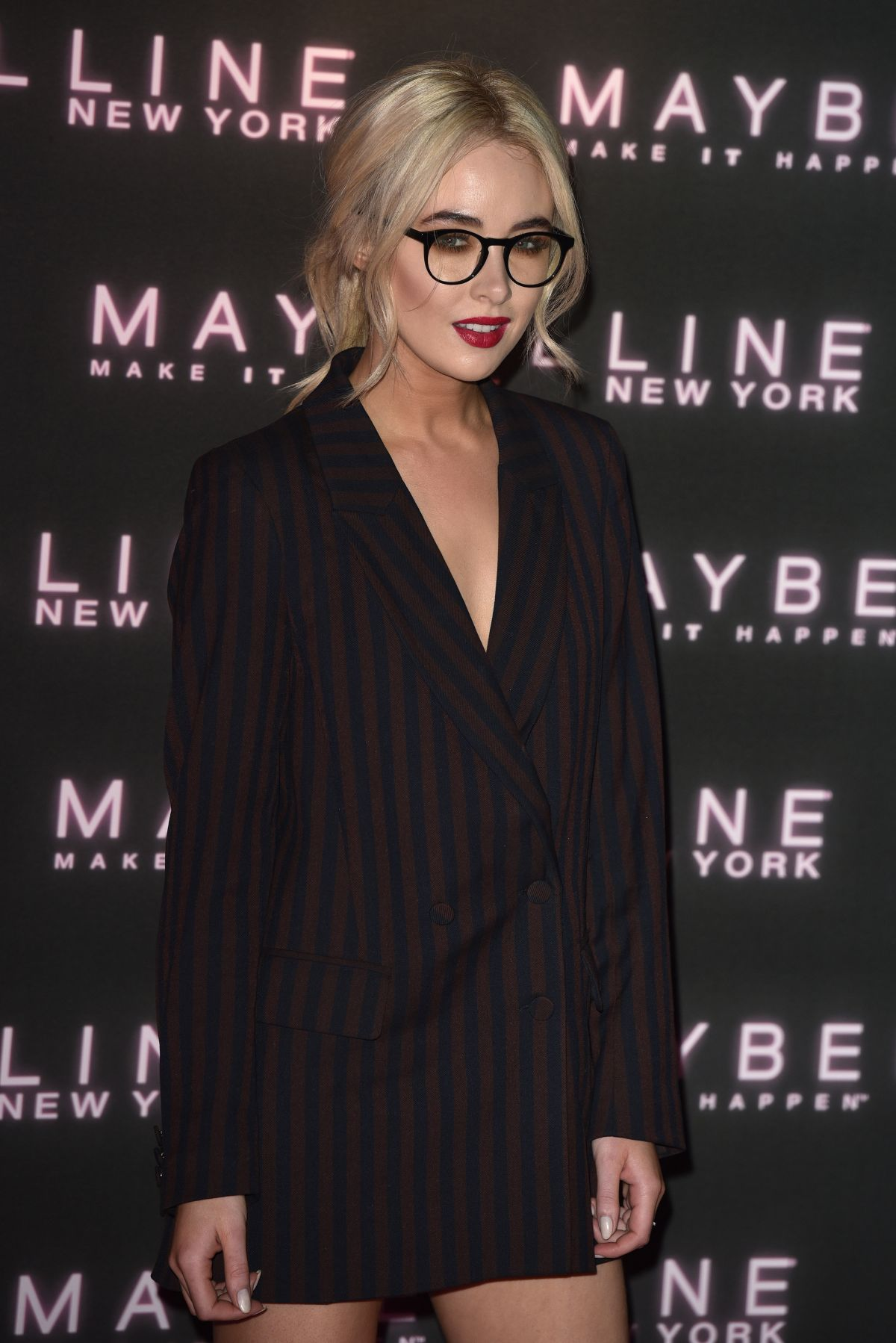 NICOLA HUGHES at Maybelline's Bring on the Night Party in London 02/18/2017