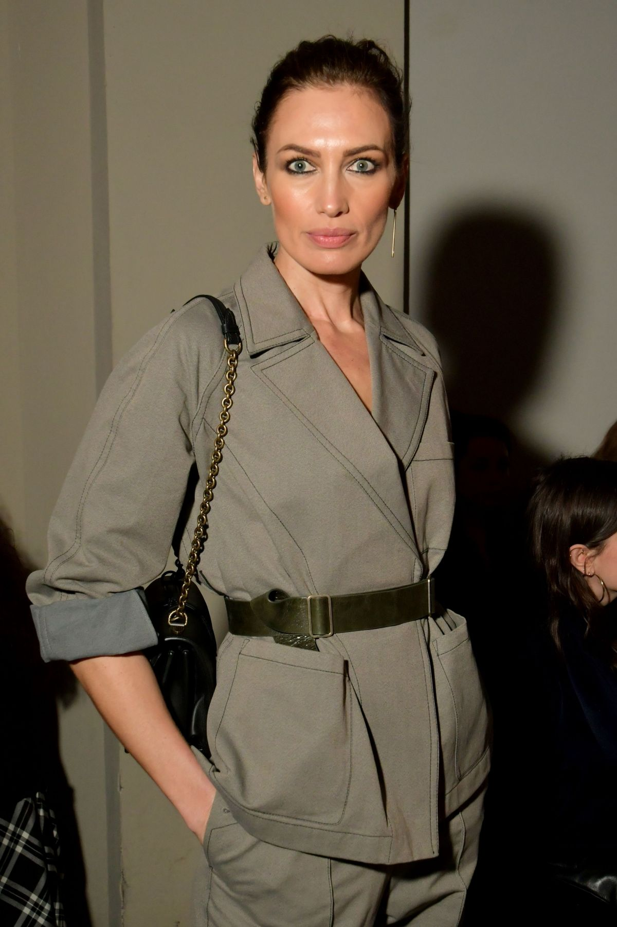 NIEVES ALVAREZ at Bottega Veneta Fashion Show at Milan Fashion Week 02/25/2017