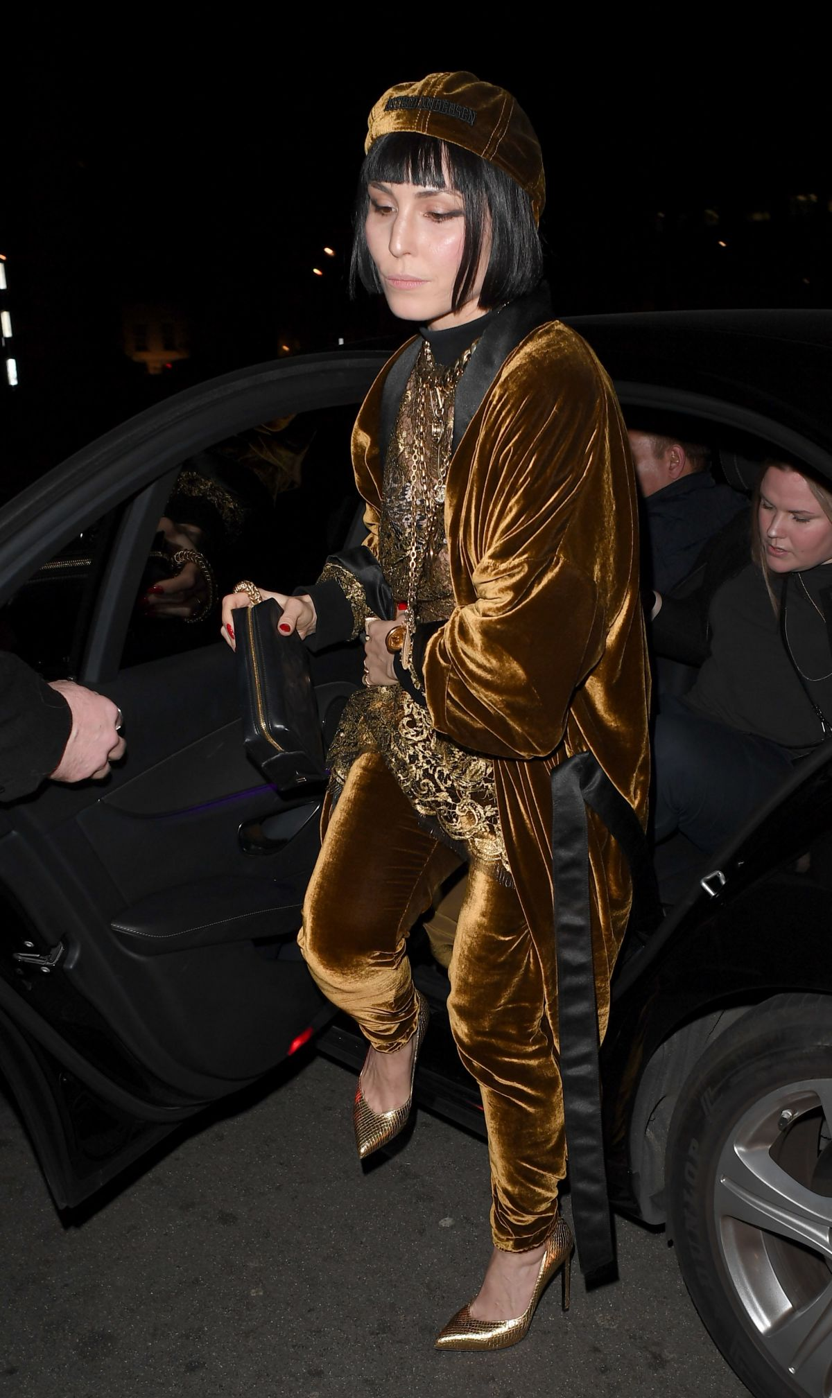 NOOMI RAPACE at Burberry Fashion Show After Party in London 02/20/2017