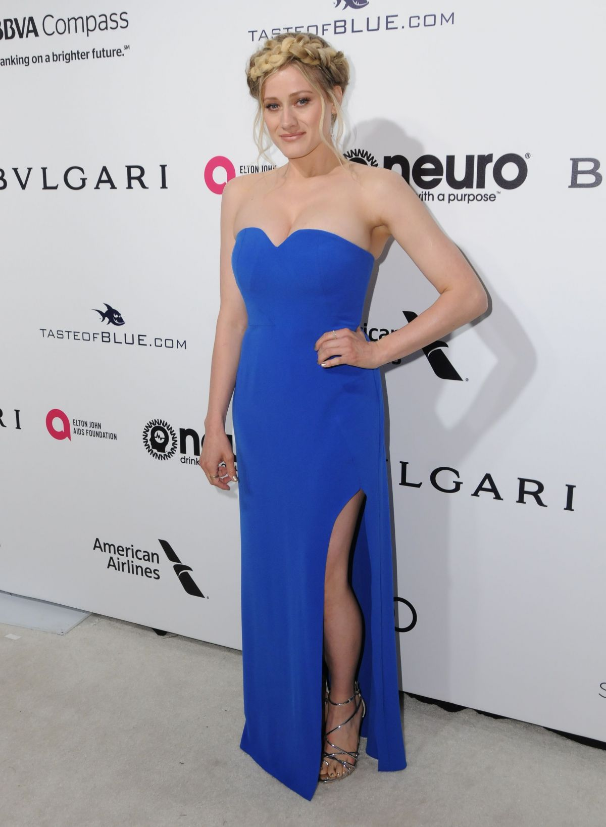 OLIVIA TAYLOR DUDLEY at 25th Annual Elton John Aids Foundation's Oscar Viewing Party in Hollywood 02/26/2017