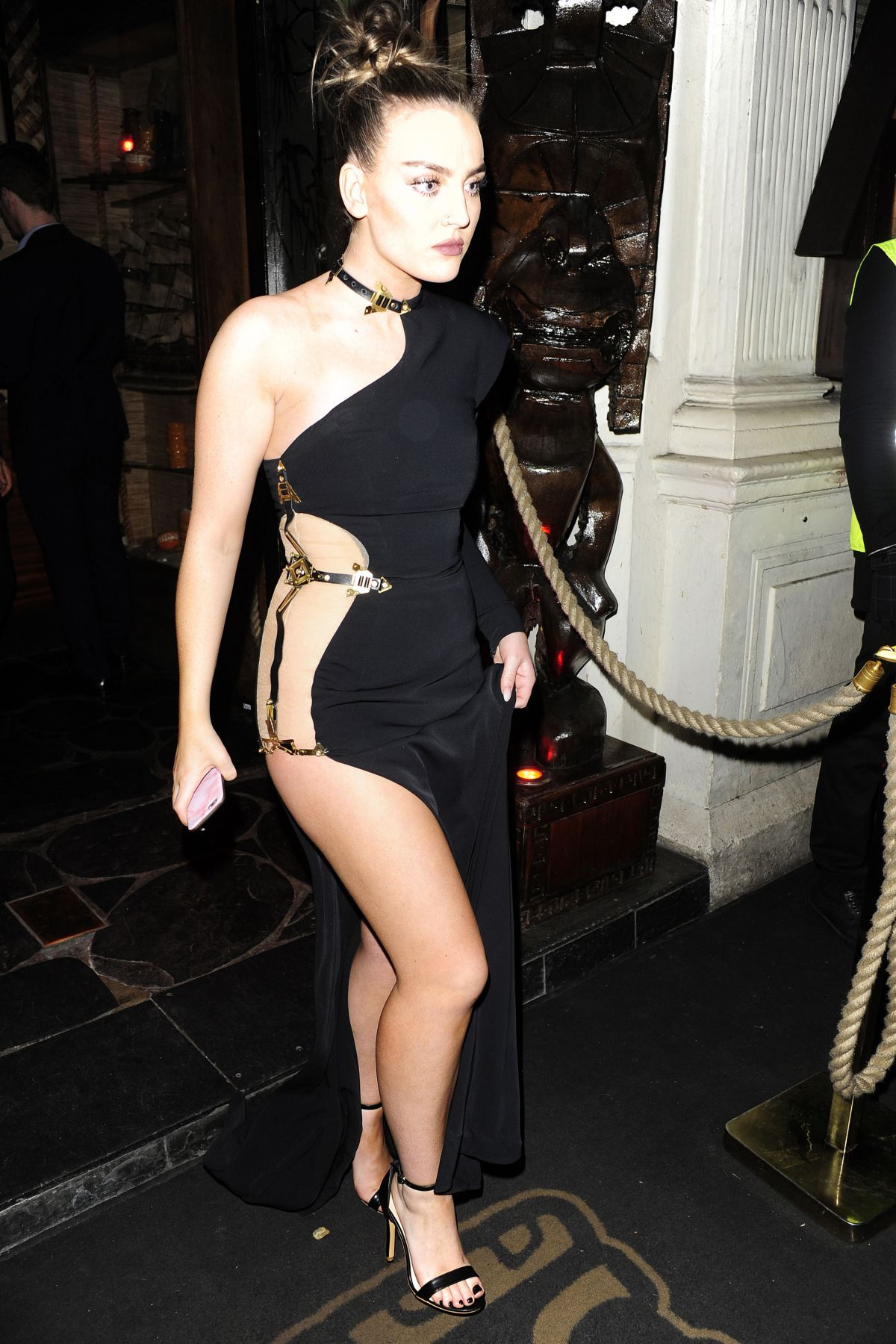 PERRIE EDWARDS Leaves Mahiki Nightclub in London 02/22/2017