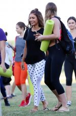 PIA MUEHLENBECK at a Yoga Event at Barangaroo in Sydney 02/16/2017