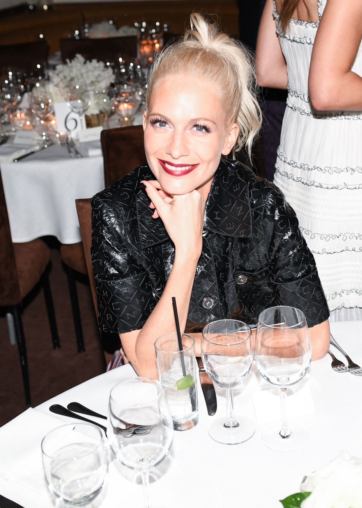 POPPY DELEVINGNE at Charles Finch and Chanel Pre Oscar Awards Dinner in Beverly Hills 02/25/2017