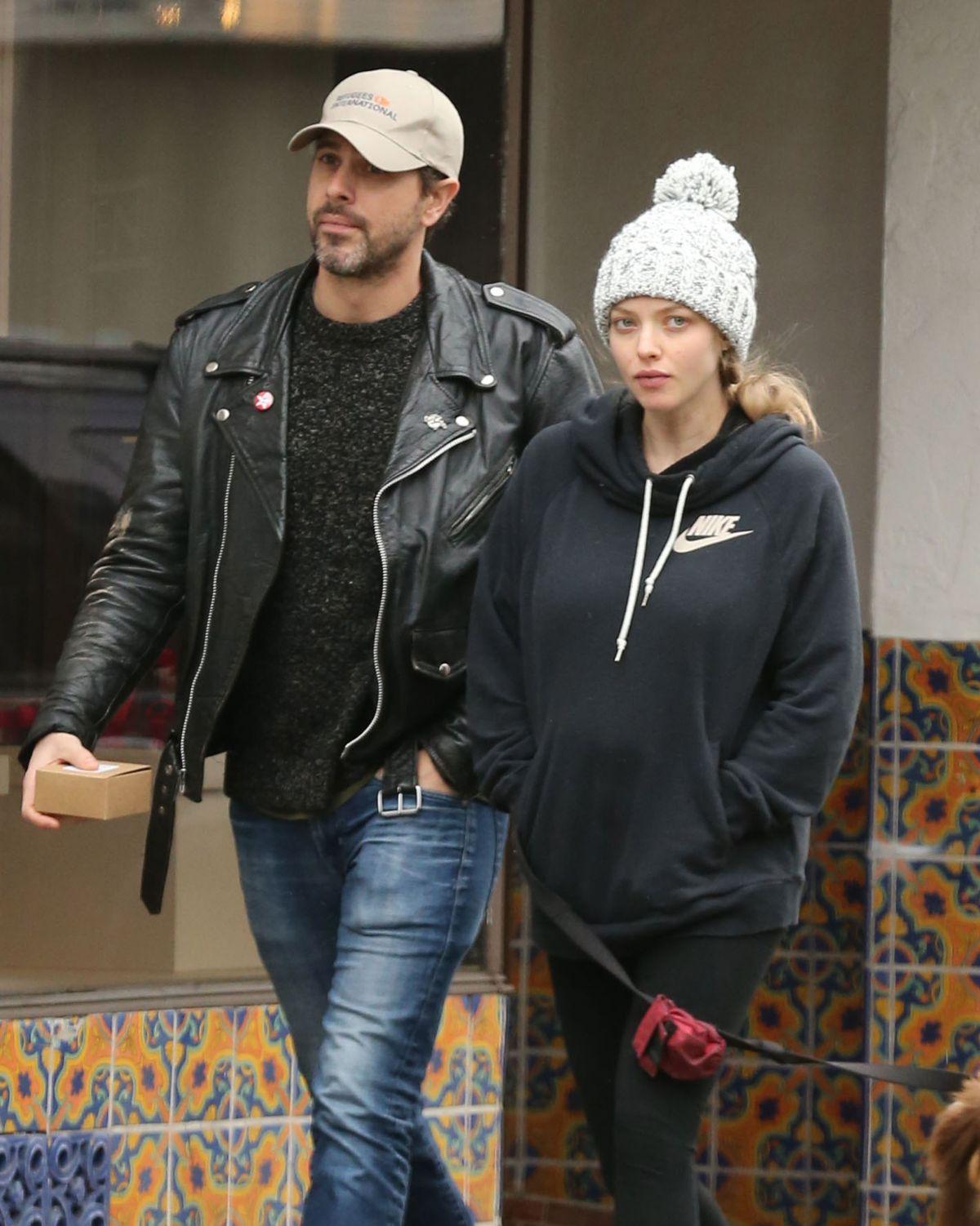 Pregnant AMANDA SEYFRIED and Thomas Sadoski Out in Hollywood 02/06/2017