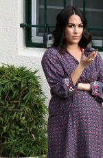 Pregnant BRIE BELLA at a Beauty Parlor in Los Angeles 02/16/2017
