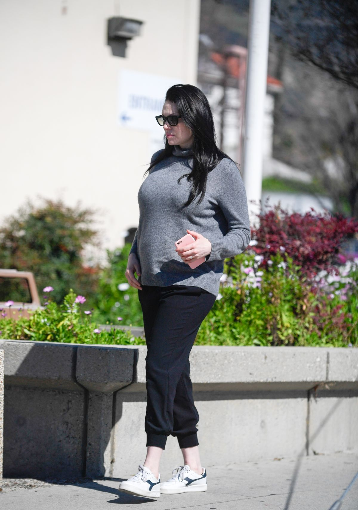 Pregnant LAURA PREPON Out and About in Glendale 02/24/2017