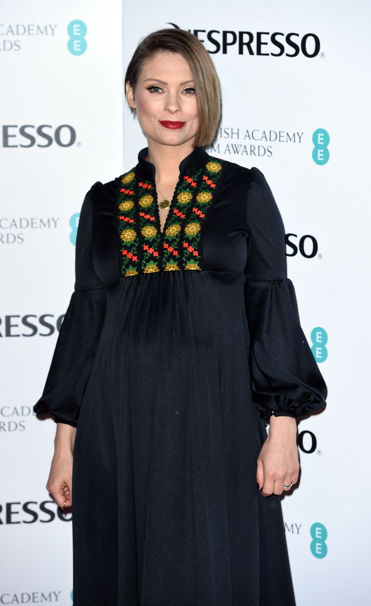 Pregnant MYANNA BURING at Bafta Nespresso Nominees' Party in London 02/11/2017