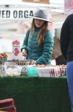 RACHEL BISLON Shopping at Farmers Market in Los Angeles 02/19/2017