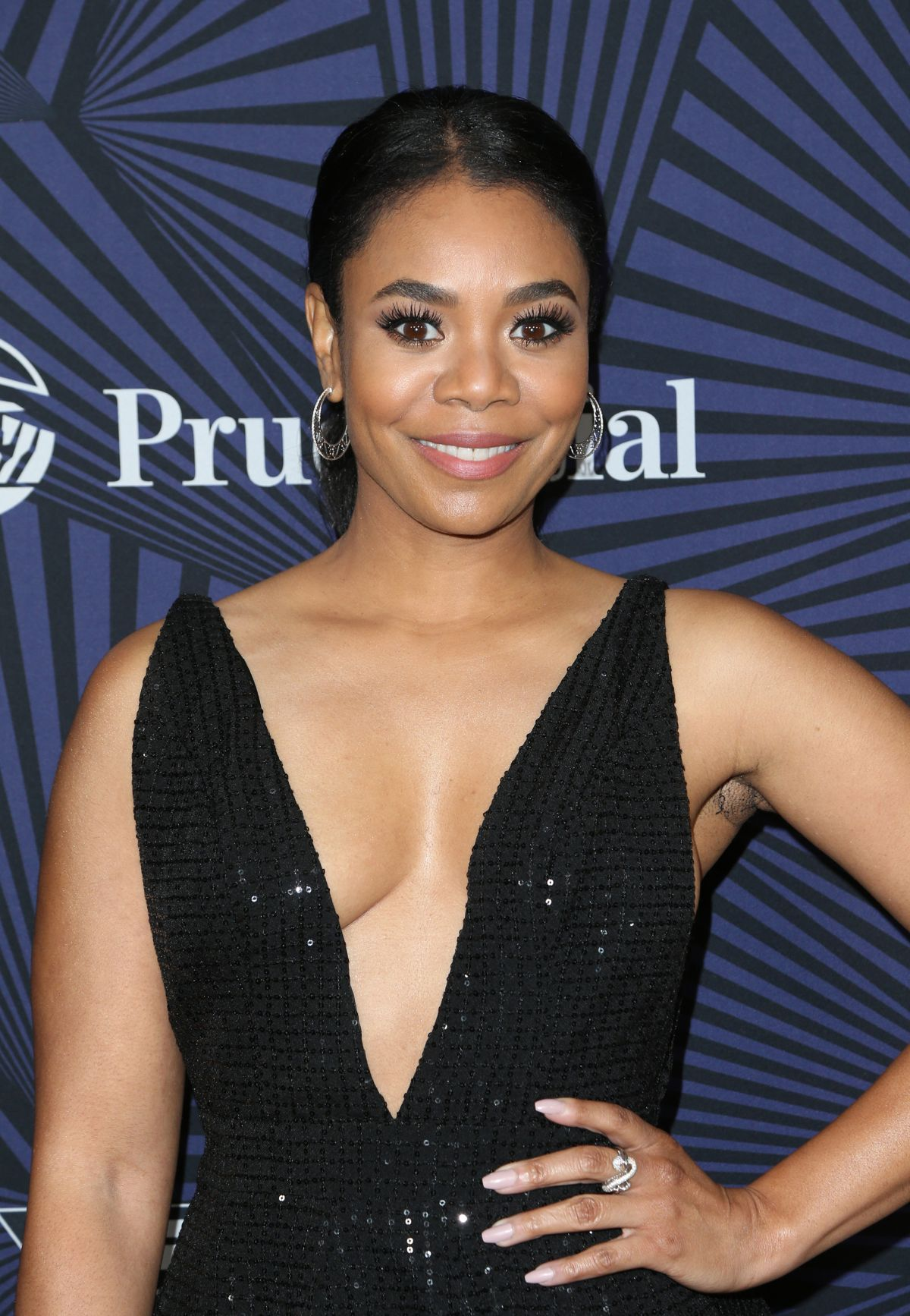 REGINA HALL at Bet's 2017 American Black Film Festival Honors Awards in Beverly Hills 02/17/2017