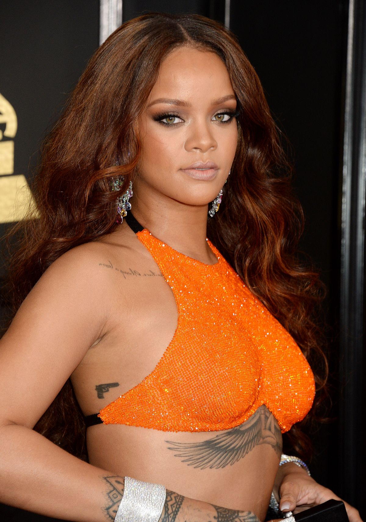 RIHANNA at 59th Annual Grammy Awards in Los Angeles 02/12/2017
