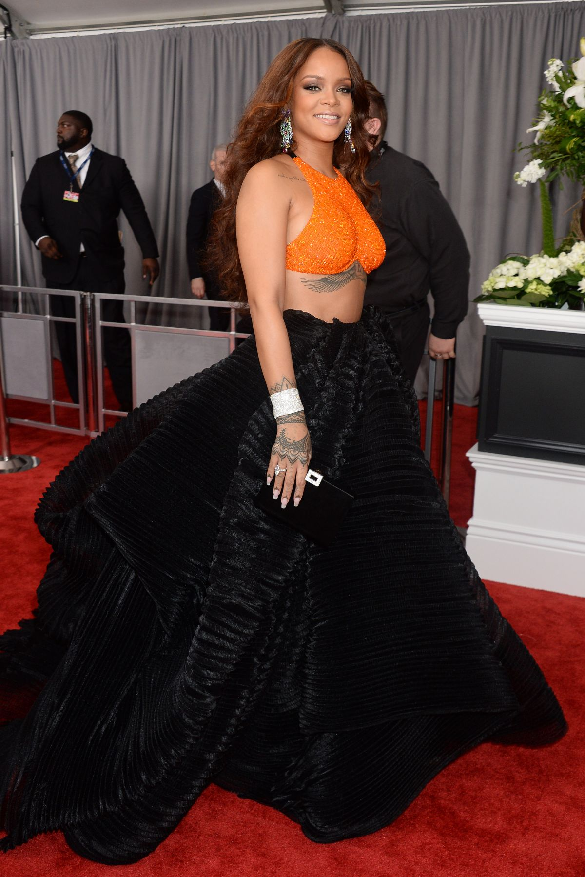 RIHANNA at 59th Annual Grammy Awards in Los Angeles 02/12 ...