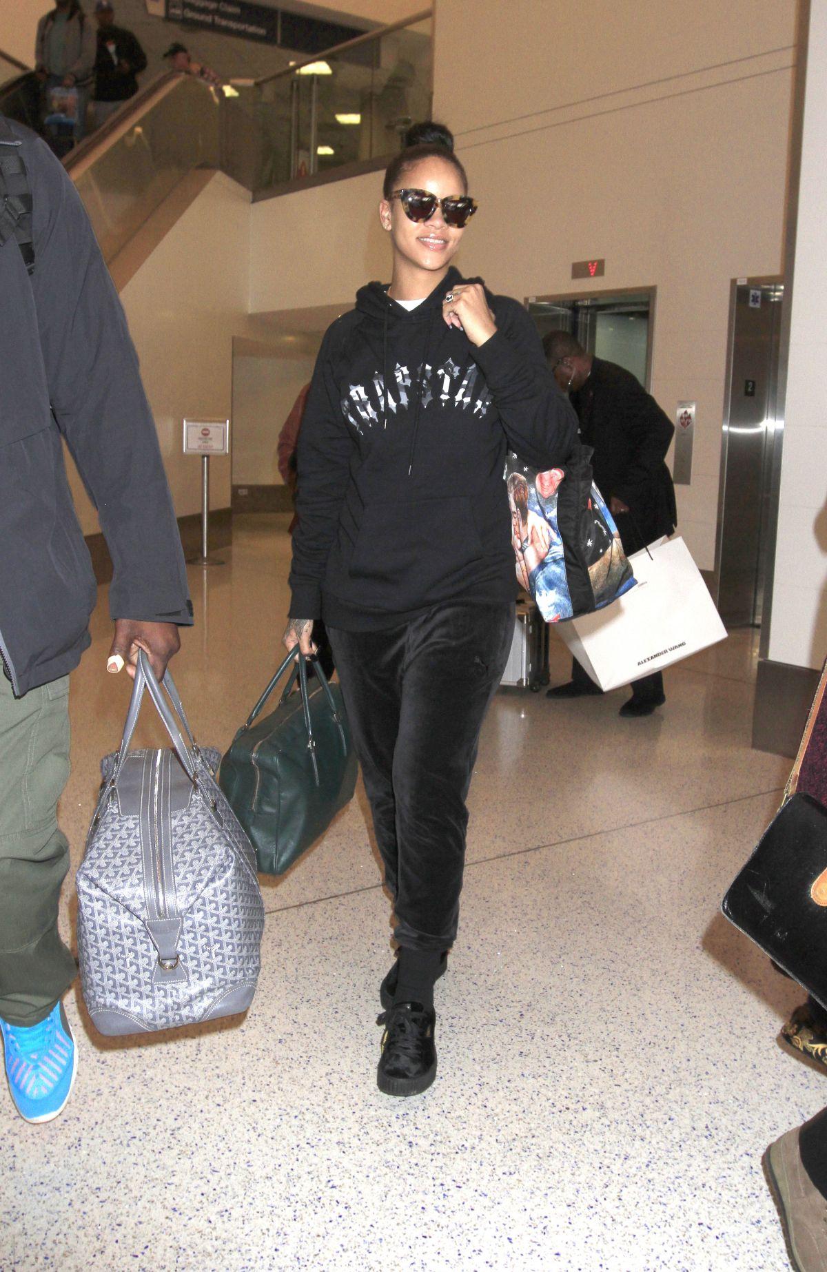 RIHANNA at LAX Airport in Los Angeles 02/08/2017
