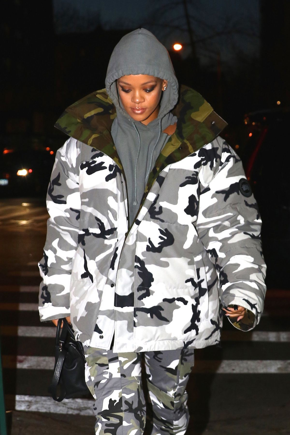 RIHANNA Night Out in New York 02/06/2017