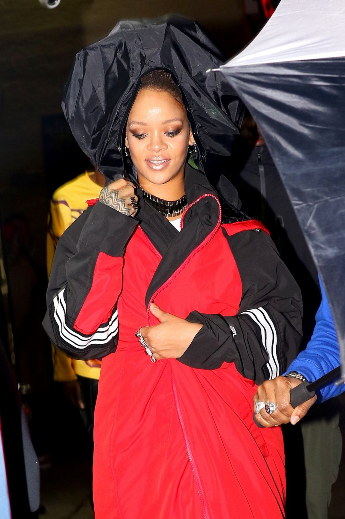 RIHANNA Out in New York 02/06/2017