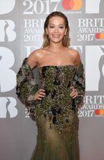 RITA ORA at Brit Awards 2017 in London 02/22/2017