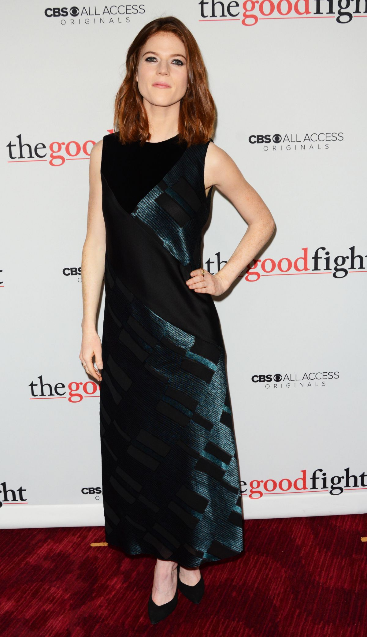 ROSE LESLIE at 'The Good Fight' Premiere in New York 02/08 ...