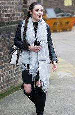 SAMANTHA LAVERY Arrives at X-Factor Live Tour 2017 Rehearsals in London 02/09/2017