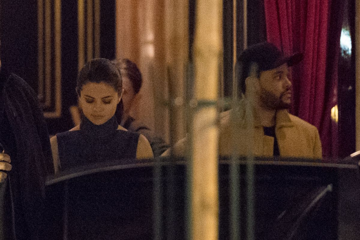 SELENA GOMEZ and The Weeknd Leaves Hotel La Reserve in Paris02/27/2017