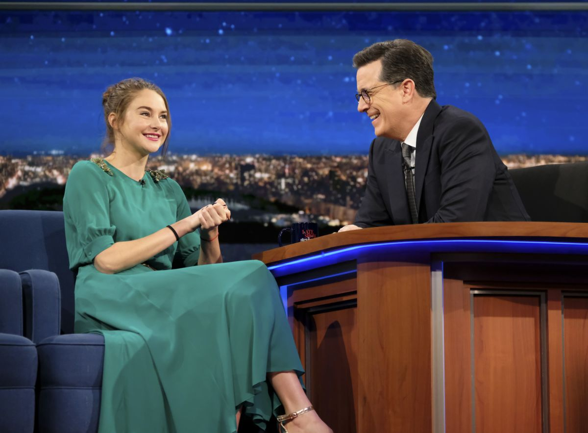 SHAILENE WOODLEY at Late Show with Stephen Colbert 02/15/2017