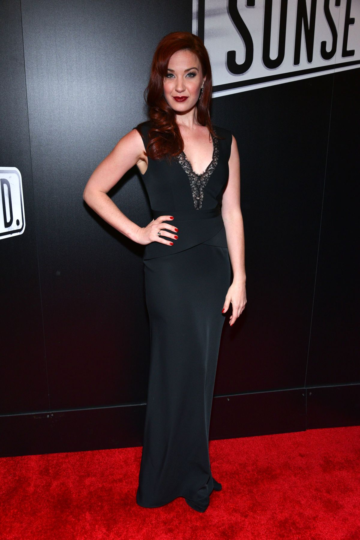 SIERRA BOGGESS at SUNSET BLVD Play Openning Night in New York 02/09/2017