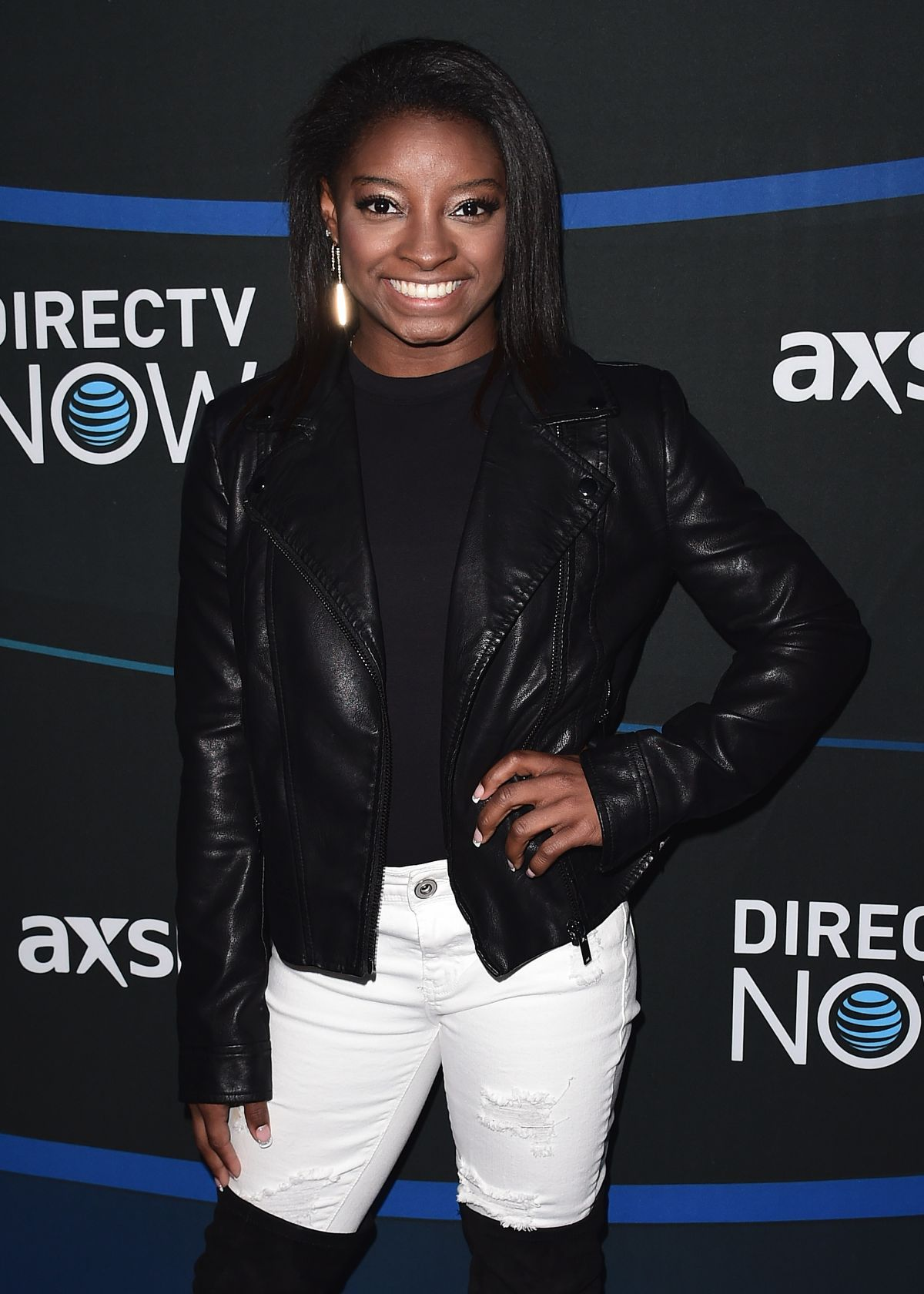 SIMONE BILES at 2017 Directv Now Super Saturday Night Concert in Houston 02/04/2017