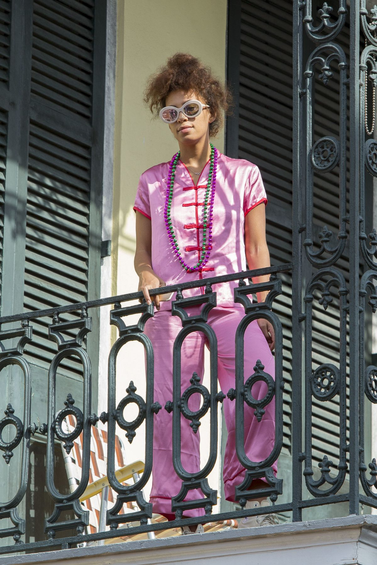 SOLANGE KNOWLES on a Balcony in New Orleans 02/19/2017